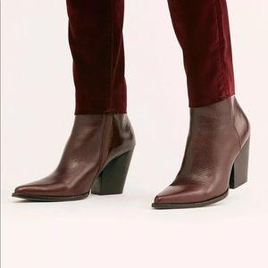 NEW Jeffrey Campbell Flynn Burgundy Boots Size 7